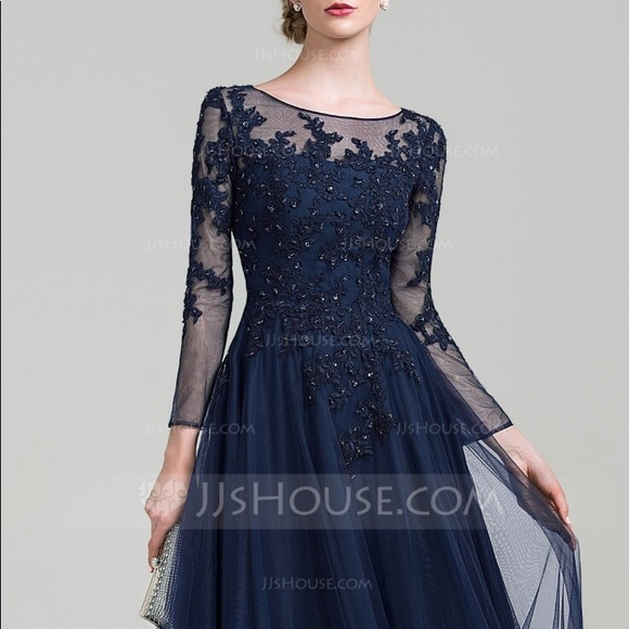 JJs House NWT navy plus size gown